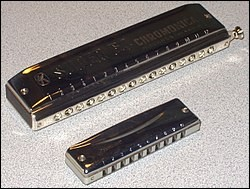 L'harmonica est un instrument de musique à vent.