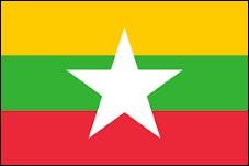 Je suis un pays d'Asie du Sud-Est, je m'appelais anciennement 'Birmanie' et le drapeau ci-dessus m'appartient. Je suis...