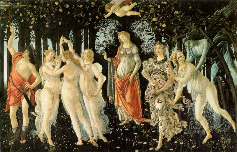 Retrouvez la saison à l'aide de cette peinture de Sandro Botticelli !