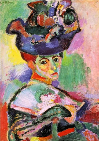 Qui a peint la Femme au chapeau en 1905 ?