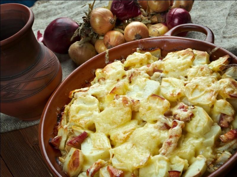 Alpes-SavoieC'est un gratin savoyard à base de pommes de terre et fromage reblochon, crème fraîche et très souvent des lardons.Je suis...
