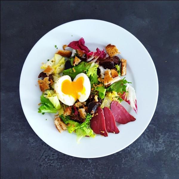 Sud-OuestC'est une salade fraîche mélangée avec des gésiers, aiguillettes et magret de canard servis tièdes ou chauds.Je suis...