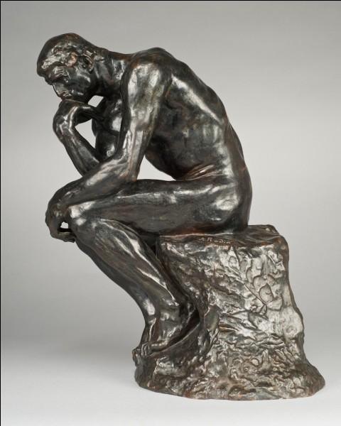 """Rodin est le sculpteur du célèbre """"Penseur""""."""