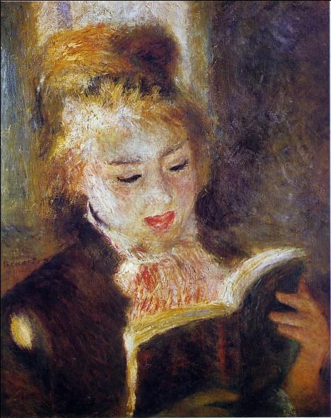 """""""La Liseuse"""" est un tableau de Jean Renoir."""