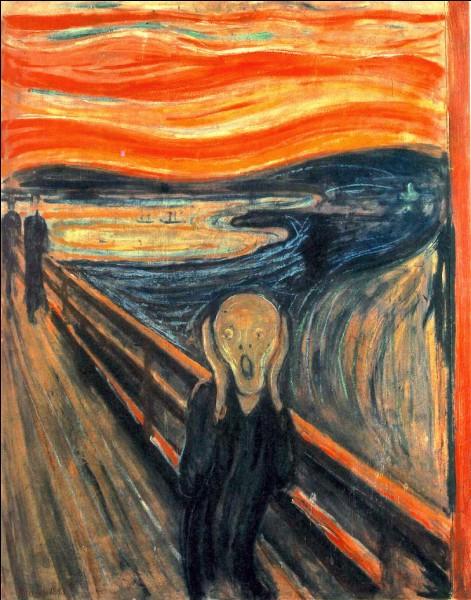"""""""Le Cri"""" est un tableau peint par Edvard Munch."""