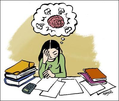 La peur de l'examen peut réellement rendre malade.