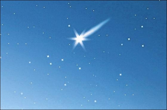 J'ai vu cette étoile filante. Et toi, [...] vue ?