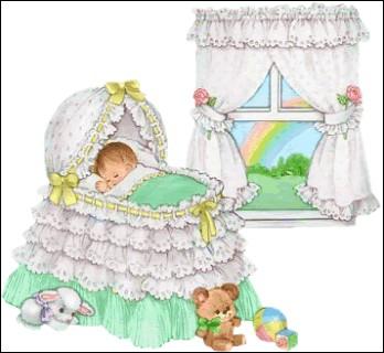 Dans son berceau, bébé s'est endormi [... à ...] !