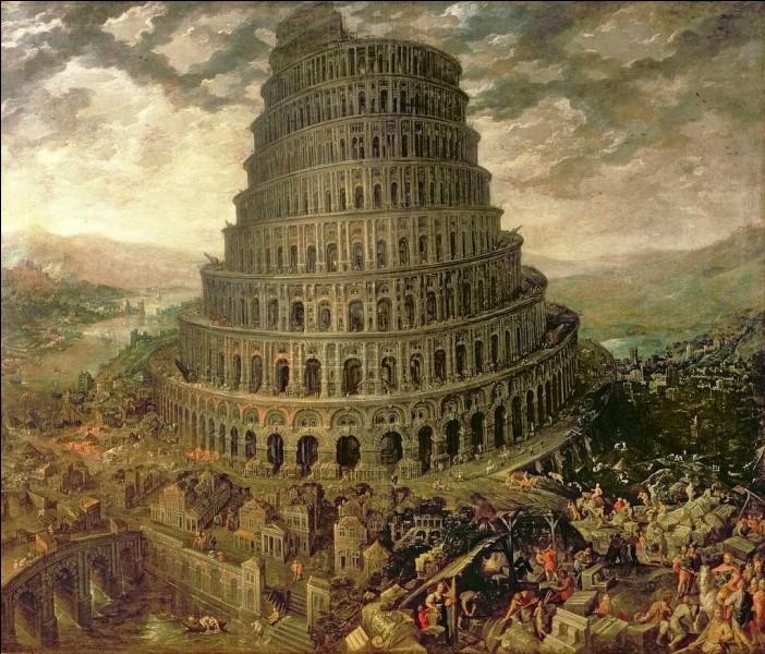 Cette tour, mythique et cosmopolite, était censée se trouver à...