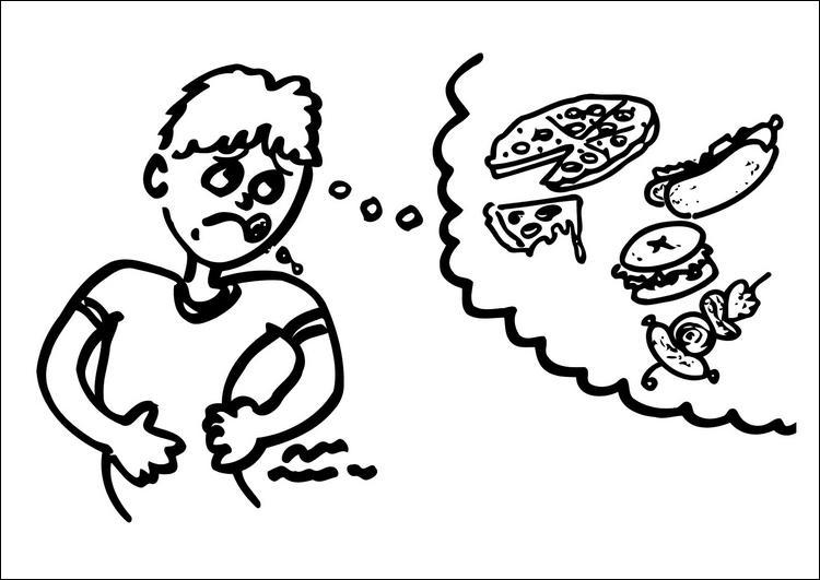 La faim est audible.
