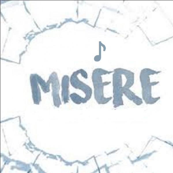 'Misère' est une chanson écrite par quel humoriste ?