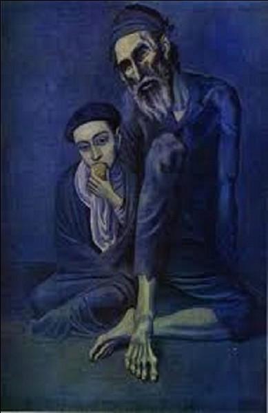 Qui est l'auteur de ce tableau intitulé 'Le mendiant et l'enfant' ?