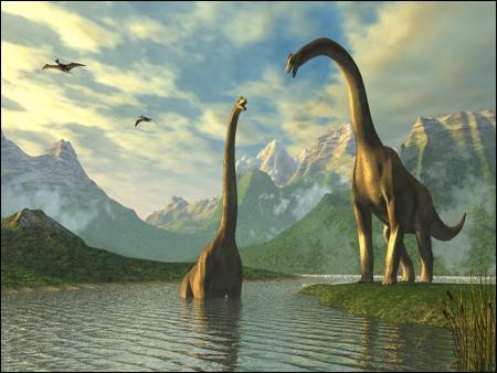 Sur certaines îles, il existe encore des dinosaures.