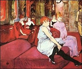 La Fleur blanche était une maison close de la ville de Paris située au 6 rue des Moulins, dans le 1er arrondissement. Quel célèbre peintre a souvent fréquenté cette maison ?