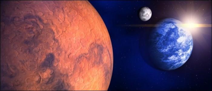 La planète la plus proche de la Terre est Mars.