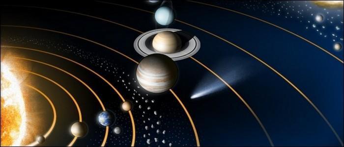 Aujourd'hui, le système solaire est composé de neuf planètes.