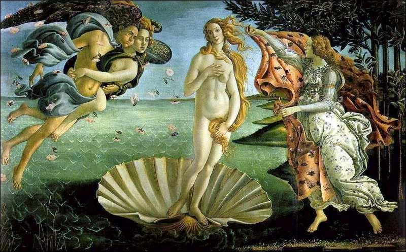 Vénus est la déesse de l'amour.