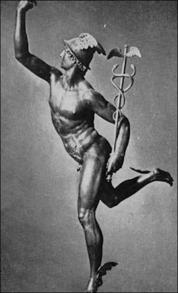 Mercure est le dieu du commerce et des voyages.
