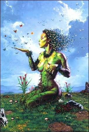 En grec, c'est Gala qui personnifie la Terre.