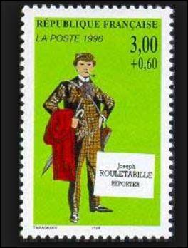 Rouletabille, comme beaucoup d'autres héros français de romans policiers, a fait l'objet d'une émission de timbres-poste à son effigie, en date du 7 octobre 1996 au profit de la Croix-Rouge française.