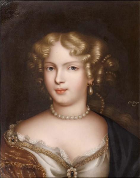 À l'âge de dix-sept ans, Mademoiselle de Fontanges devint la maîtresse du roi Louis XIV.
