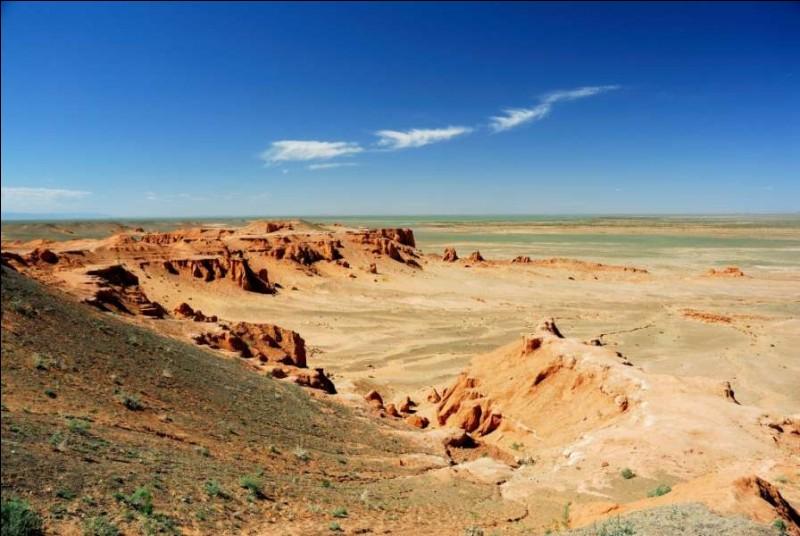La superficie du désert de Gobi par rapport à celle du désert du Namib...