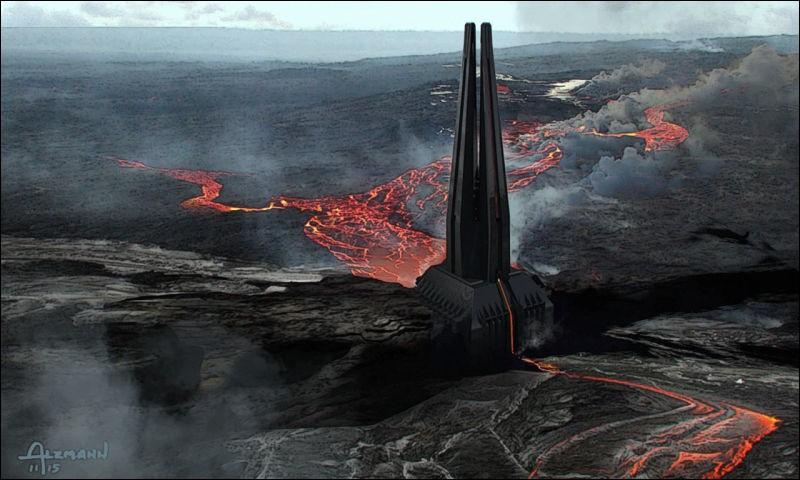 Sur quelle planète se trouve Dark Vador lors de sa première apparition dans le film ?