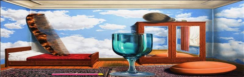 Ceci n'est pas un verre pourrait-on dire ! Qui est à l'origine de ce tableau ?