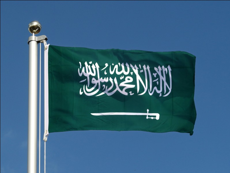 Ce drapeau est celui de l'Arabie saoudite :