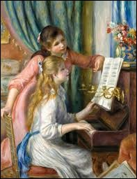 """Qui a peint ce tableau ayant pour titre """"Jeunes filles au piano"""" ?"""