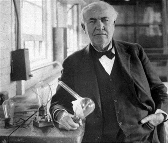Inventeur de génie, il mit au point le phonographe en 1877 et l'ampoule électrique en 1879. Il créa la General Electric, l'une des premières puissances industrielles mondiales. Il déposa plus de 1 000 brevets. Il fut un pionnier dans le domaine de l'électricité, notamment au niveau de sa diffusion et vulgarisation.En 1891, il était l'un des inventeurs du cinéma et de l'enregistrement sonore :