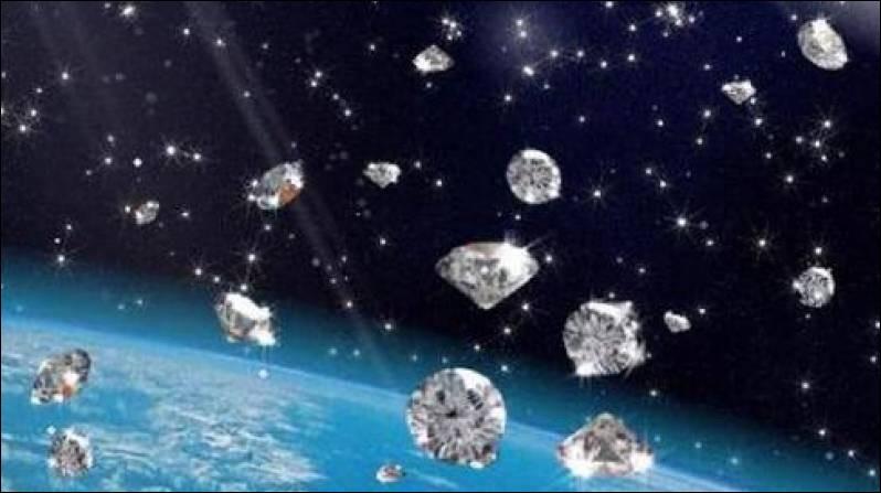 """[Planète rocheuse 55 Cancri-e]Une équipe américano-française d'astronomes a récemment découvert une planète qui """"serait"""" constituée, en partie, d'une masse de diamants équivalente à trois fois celle de la masse terrestre :"""