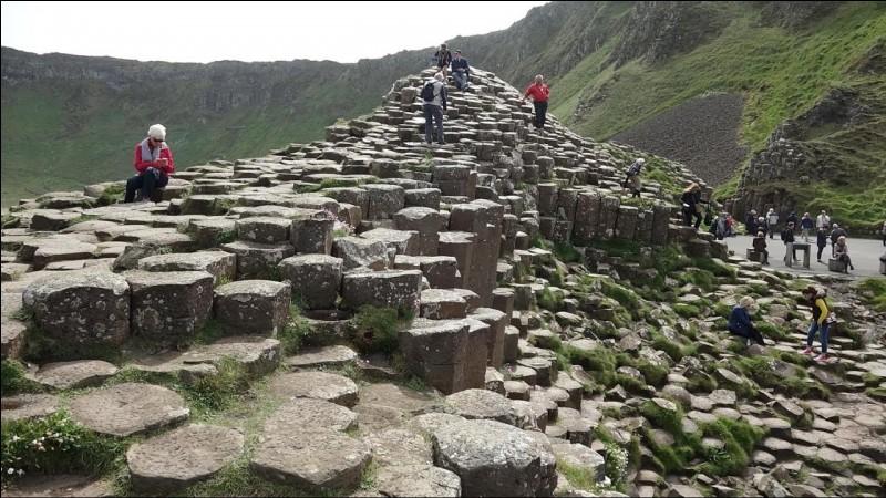 La chaussée des géants est une formation volcanique de 40 000 colonnes de différentes hauteurs. Les plus grandes font 12 mètres. Où se situe cette chaussée ?