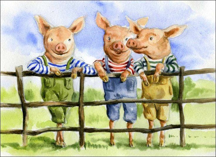 Lequel de ces animaux souffle les maisons des trois petits cochons ?