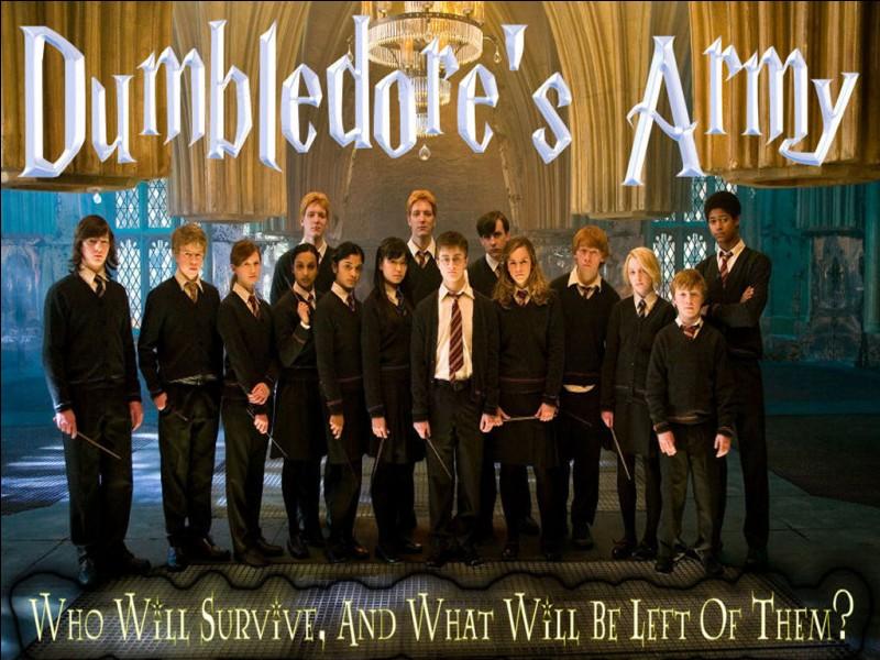 C'est Ginny qui a donné son nom à l'Armée de Dumbledore :