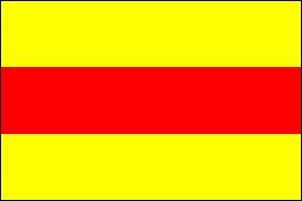 Le drapeau de la République socialiste du Vietnam est constitué de deux bandes jaunes et d'une bande rouge.