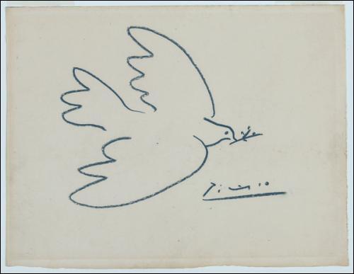 La Journée internationale de la paix est célébrée le 21 septembre. Qui a dessiné cette colombe ?