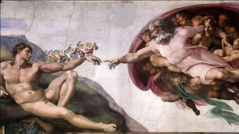 Les 7 Nains ont participé à la création d'Adam, et on ne le savait pas ! Qui est l'artiste les ayant reçus lors de la grande réalisation de la fresque ?!