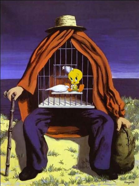 Vous reconnaissez aussi bien l'artiste de l'œuvre originale que l'oiseau espiègle qui s'est introduit dans la cage.Qui sont-ils ?