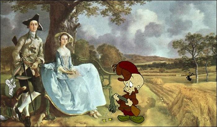 """Que peut bien dire l'intrus à """"Monsieur et Madame Andrews"""" ?"""