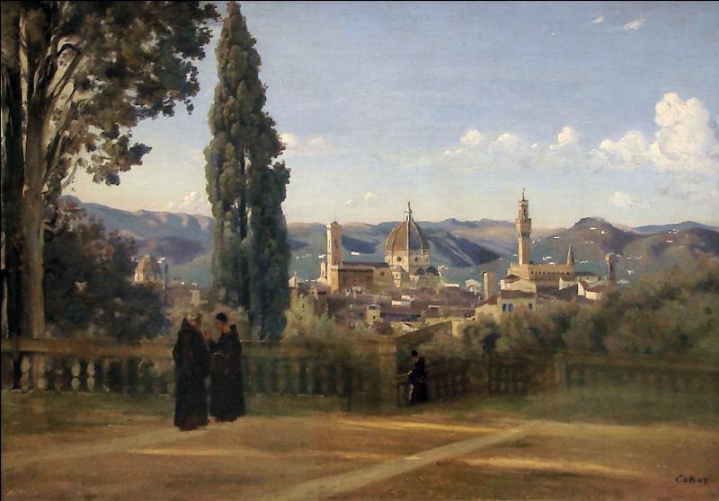 Un panorama de rêve, déjà à l'époque du séjour de Camille Corot ! Ancien parc privé des Médicis, il a été ouvert au public en 1766. Sur ses 45 000 mètres carrés, vous découvrirez des statues, fontaines, lacs et grottes. Adjacent au Palais Pitti. Comment se nomme-t-il ?