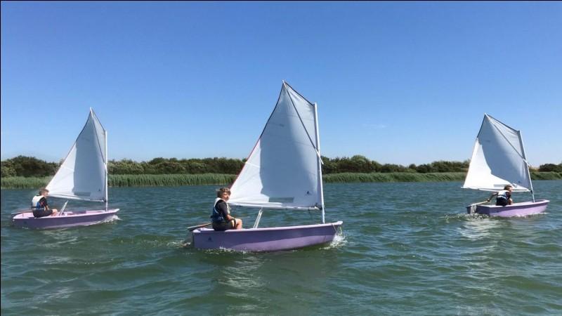 Quel est le nom du petit voilier monocoque conçu pour l'apprentissage des enfants ?