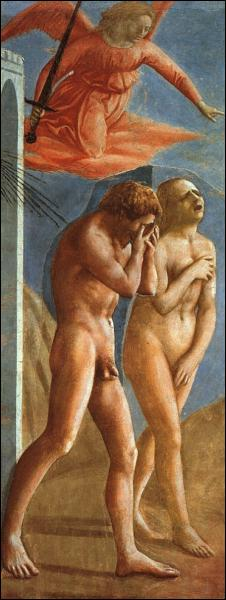 Quels personnages mythiques Masaccio a-t-il représenté dans ce tableau ?