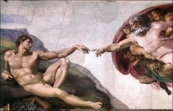 L'oeuvre majeure de Michel-Ange, sur le plafond de la Chapelle Sixtine, évoque ...
