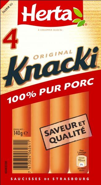 La saucisse Knacki est un produit ...