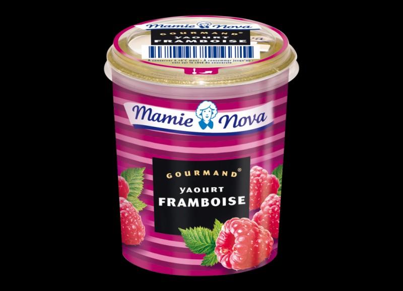 Le yaourt Mamie Nova framboise est un produit ...