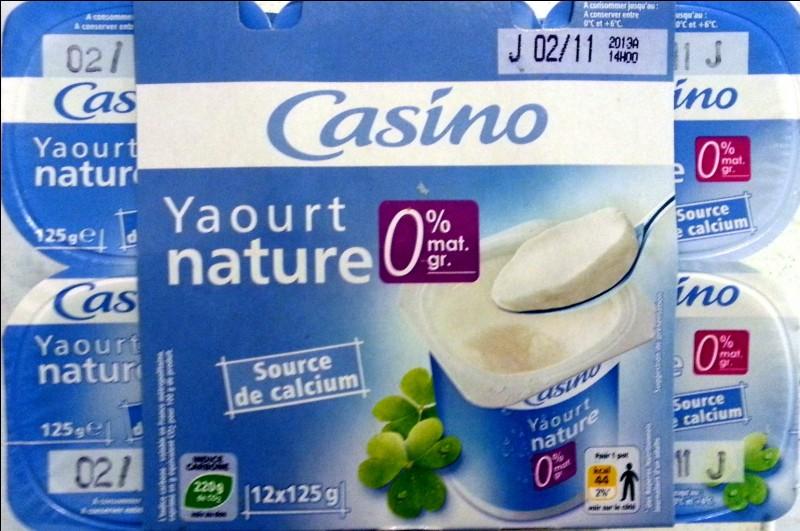 Un yaourt 0% est un produit ...