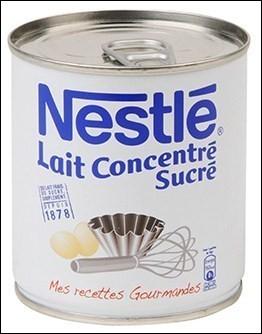 Le lait concentré est un produit ...