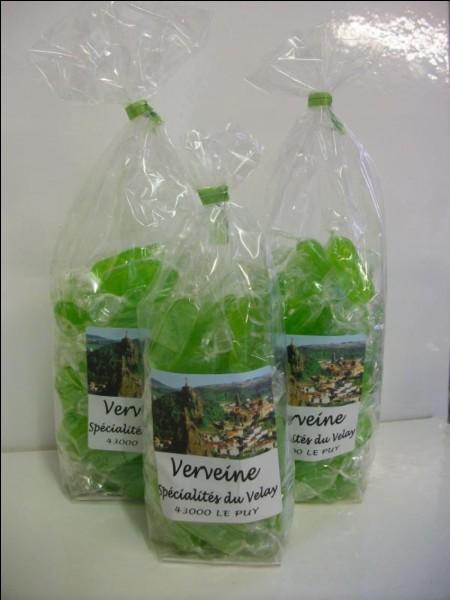 Quelle plante aromatique est utilisée dans le Velay pour la confection de bonbons ?