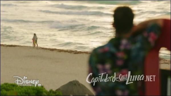 Qu'imagine Matteo quand il voit Luna et Simon sur la plage ?